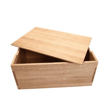 bogkasse med låget skråt