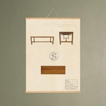 cas bænk møbel plakat svanel