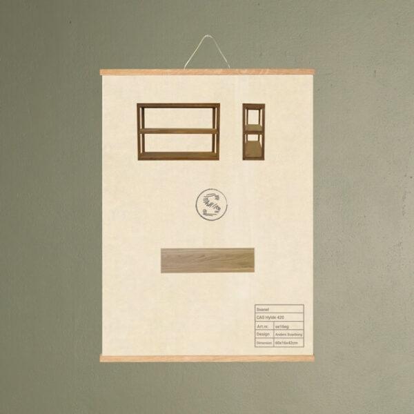 cas hylde 420 møbel plakat svanel