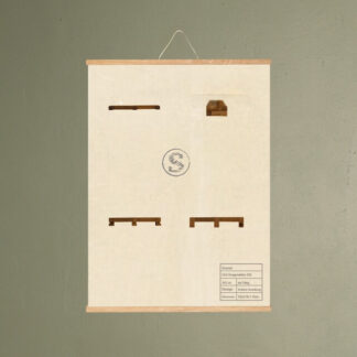 cas knagerække 250 møbel plakat svanel