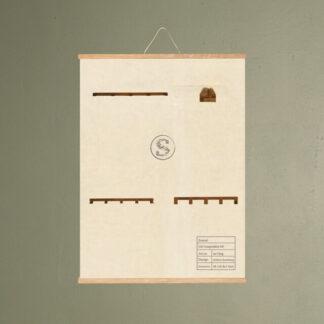 cas knagerække 481 møbel plakat svanel