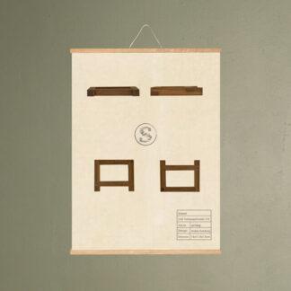 cas toiletpapirholder 119 møbel plakat svanel