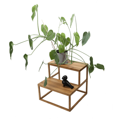 taburet med trin med plante