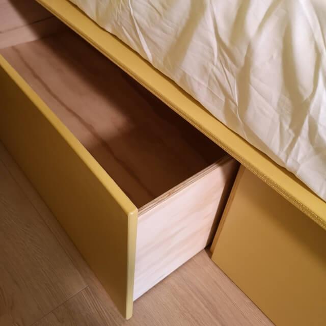 tænk opbevaring ind i indretningen af soveværelset