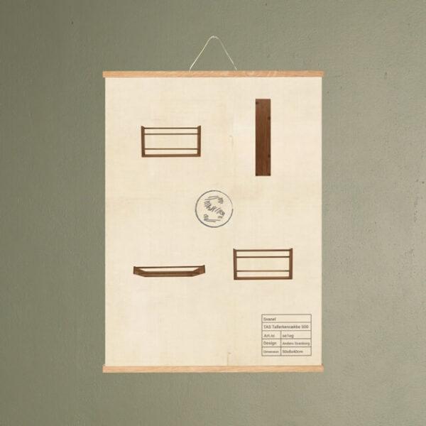 tas tallerkenrække 500 møbel plakat svanel