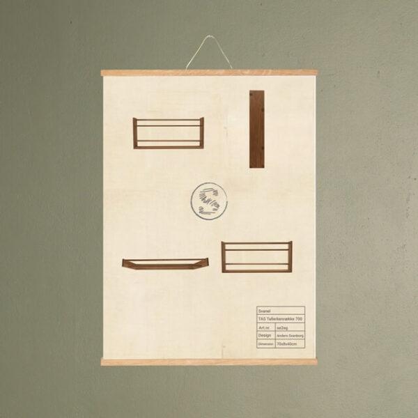 tas tallerkenrække 700 møbel plakat svanel