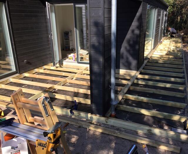 træ terrasse billede