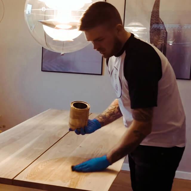 vedligeholdelse plankebord olie