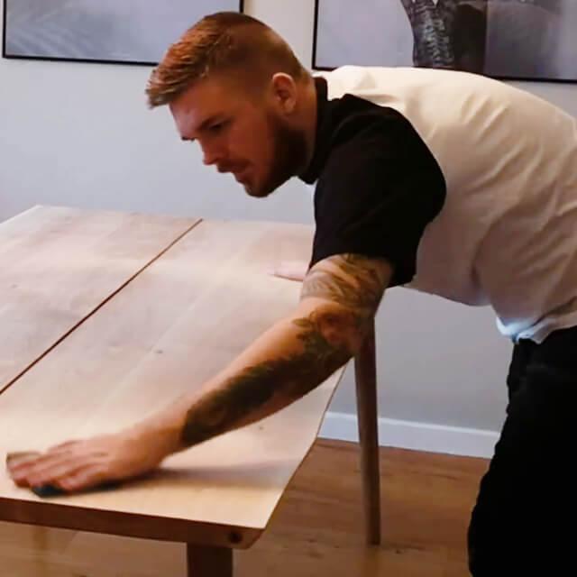 vedligeholdelse plankebord pudse